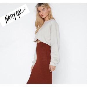 🍒Nasty Gal🍒 NWT two piece knit skirt set sz s.